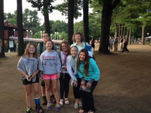 Boght Hills Principal Greiner and six students at SPAC, prior to the Bolshoi Ballet performance.