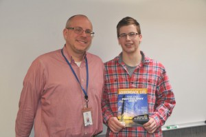 Shaker High School teacher Dan Weaver & Shaker High School senior, Tim Behuniak.