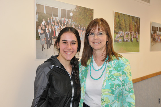 Shaker High School junior, Hanna Nichols, with Shaker Key Club advisor, Linda Mancuso.