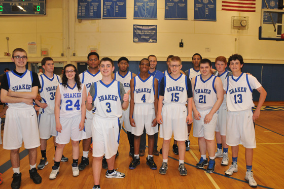 2015 Shaker Unified Basketball Team.