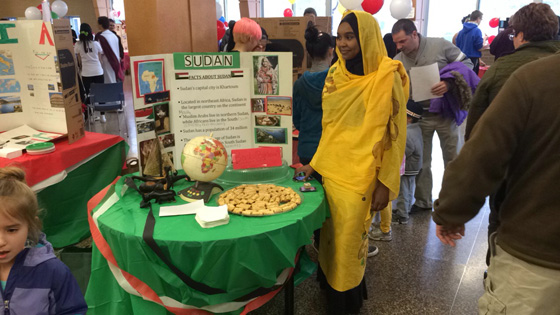 The Sudan booth at North Colonie's International Festival.
