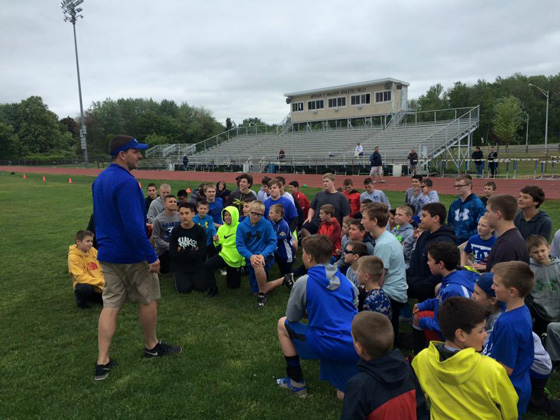 North Colonie's third annual youth football clinic.