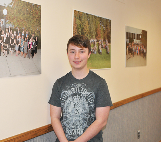 Shaker High School senior, Jack Einstein, the North Colonie Kids Care May feature.