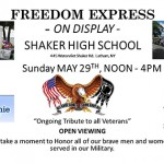 Freedom Express to make a stop at Shaker High School