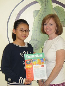 Teresa Zhang with Southgate art teacher Mary Beth Aldous, who submitted her work for publication.