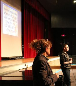 picture of guest speakers at Shaker High School