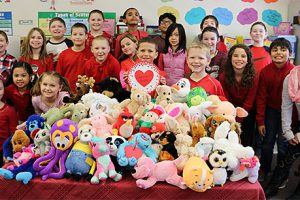 Students collect stuffed animals for children in need of a special friend