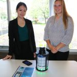 SHS Seniors Allie Lajeunesse & Wenny Miao who created an Automated Medication Distribution and Alert System for Independently Living Seniors