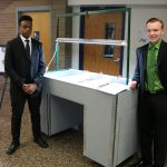 SHS Seniors Daniel Scott Bowers & Sami Dawood who created a Dual Purpose Hydroponic Infused Garden System for the Elderly