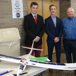 SHS Seniors Zach Flood & Dan Levchenko who created a Solar Glider for Enhanced Beach Surveillance and Threat Detection