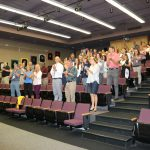 Tracy Henry gets a standing ovation from colleagues