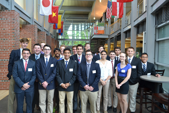 Shaker High School students at Siena College, for the High School Business Plan competition.