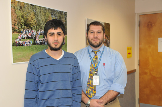 SHS teacher Nathaniel Covert and student Muhammad Ali