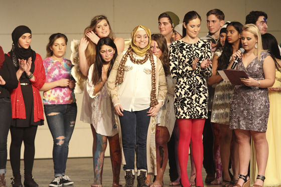 Shaker High School student models who participated in Catwalk for a Cause.