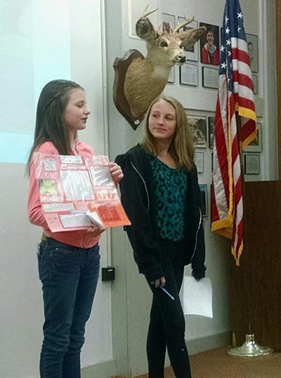 Students present to Friends of Five Rivers.