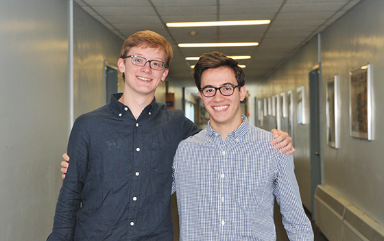 James Hoehn and Antonio Pecoraro, the North Colonie Kids Care June features.