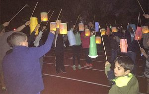 picture of students participating in lantern parade