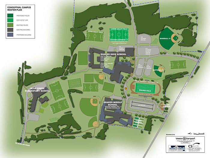 Site map, SHS and SJHS