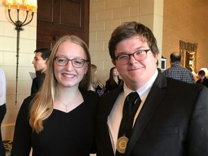 Julia McGaugh and Michael Woods at the All-National Chorus performance in Dallas, TX.