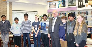 picture of superintendent with students