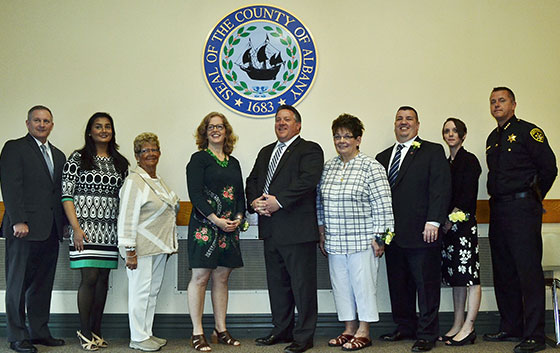 picture of Albany County Volunteer award winners