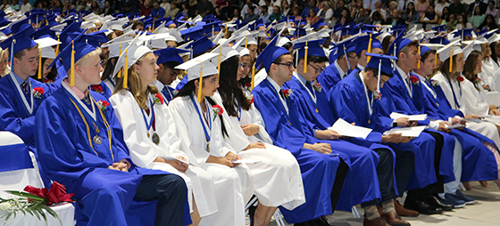 Shaker seniors at the Class of 2018 graduation ceremony