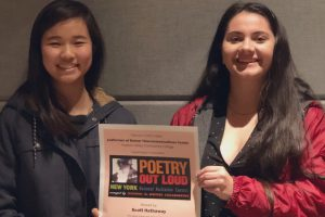 Two Shaker students participate in regional competition for Poetry Out Loud