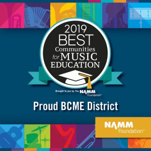 2019 best communitieis for music education award from the namm foundation