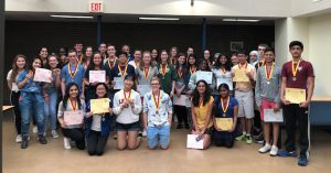 shs spanish students pose with their awards from the national spanish exam